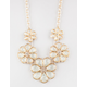 FULL TILT 5 Flower Statement Necklace