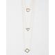 FULL TILT 3 Row Circle/Triangle/Diamond Necklace