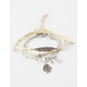 FULL TILT 5 Piece Hamsa/Fringe/Arrow Bracelet Set