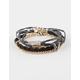 FULL TILT 5 Piece Braid/Rhinestone Friendship Bracelets