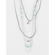 FULL TILT 5 Layer Cord/Chain Feather Necklace