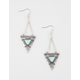 FULL TILT Turquoise Triangle Earrings