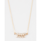 FULL TILT Dainty Rhinestone Leaf Necklace