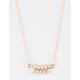 FULL TILT Dainty Rhinestone Leaf Necklace