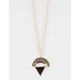 FULL TILT Geo Half Moon/Triangle Long Necklace