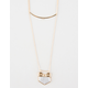 FULL TILT 2 Layer Bar/Chevron Necklace