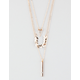 FULL TILT 3 Layer Leaf/Bar Necklace