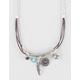 FULL TILT Layered Tube Charm Necklace