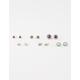 FULL TILT 6 Pairs Eclectic Earrings