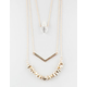 FULL TILT 3 Row Stone Necklace