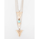 FULL TILT 3 Layer Turquoise Arrow Necklace