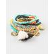 FULL TILT 10 Piece Tassel/Stone Bracelets