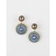 FULL TILT Stone Medallion Earrings
