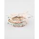 FULL TILT 5 Piece Love/Flower Bracelets