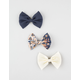 FULL TILT 3 Piece Tribal Bow Hair Clips
