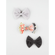 FULL TILT 3 Piece Geo Bow Hair Clips