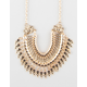 FULL TILT Stone Fringe Statement Necklace