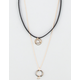 FULL TILT 2 Row Triangle/Circle Cord Necklace