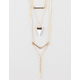 FULL TILT 4 Row Tiger Stone Layer Necklace