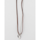 FULL TILT Suede/Chain Peace Charm Necklace