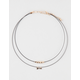 FULL TILT 2 Row Choker Arrow Necklace