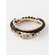 FULL TILT 5 Piece Beaded Rhinestone Bracelet Set