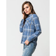 POLLY & ESTHER Washed Womens Flannel