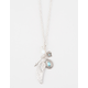 FULL TILT Rhinestone Wing Charm Necklace