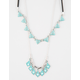 FULL TILT 2 Layer Beaded Stone Cord Necklace