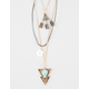 FULL TILT 3 Layer Turquoise Arrow Cord Necklace