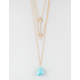 FULL TILT 3 Row Vertical Arrow/Turquoise Stone Necklace
