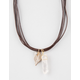FULL TILT Crystal Feather Cord Necklace