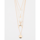 FULL TILT Layered Moon Charm Necklace