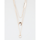 FULL TILT 3 Row Bar/Circle/Horn Necklace