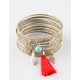 FULL TILT 20 Piece Tassel Charm Bangle Set