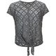 FULL TILT Open Weave Girls Tie Front Top