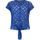 FULL TILT Open Weave Tie Front Girls Top