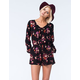 MIMI CHICA Womens Floral Romper