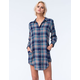ROXY Woodwork Womens Plaid Tunic Dress
