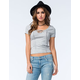 FULL TILT Womens Lace Up Top