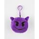 Plush Devil Emoji Keychain