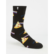 PSOCKADELIC Dark Side Of The Pizza Mens Crew Socks