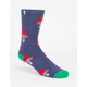 PSOCKADELIC Mushroom Mens Crew Socks