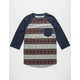 RETROFIT Mosaic Stripe Mens Baseball Tee