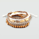 FULL TILT 5 Piece Beaded Friendship Bracelets