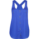 FULL TILT Button Front Womens Henley Tank