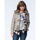 Sebby Collection Womens Faux Fur Collared Jacket