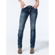 MISS ME Panel Womens Straight Fit Jeans