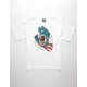 SANTA CRUZ x Marvel Captain America Hand Boys T-Shirt