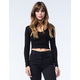 BOZZOLO Womens Long Sleeve Crop Top